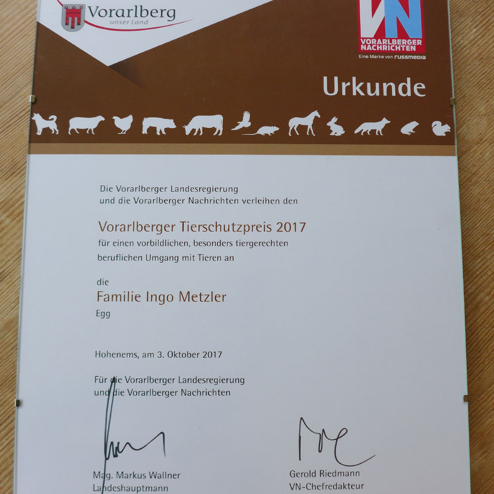 metzler naturhautnah - Tierschutzpreis 2017