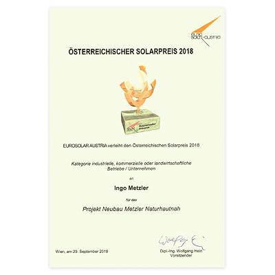 Gewinner Solarpreis 2018