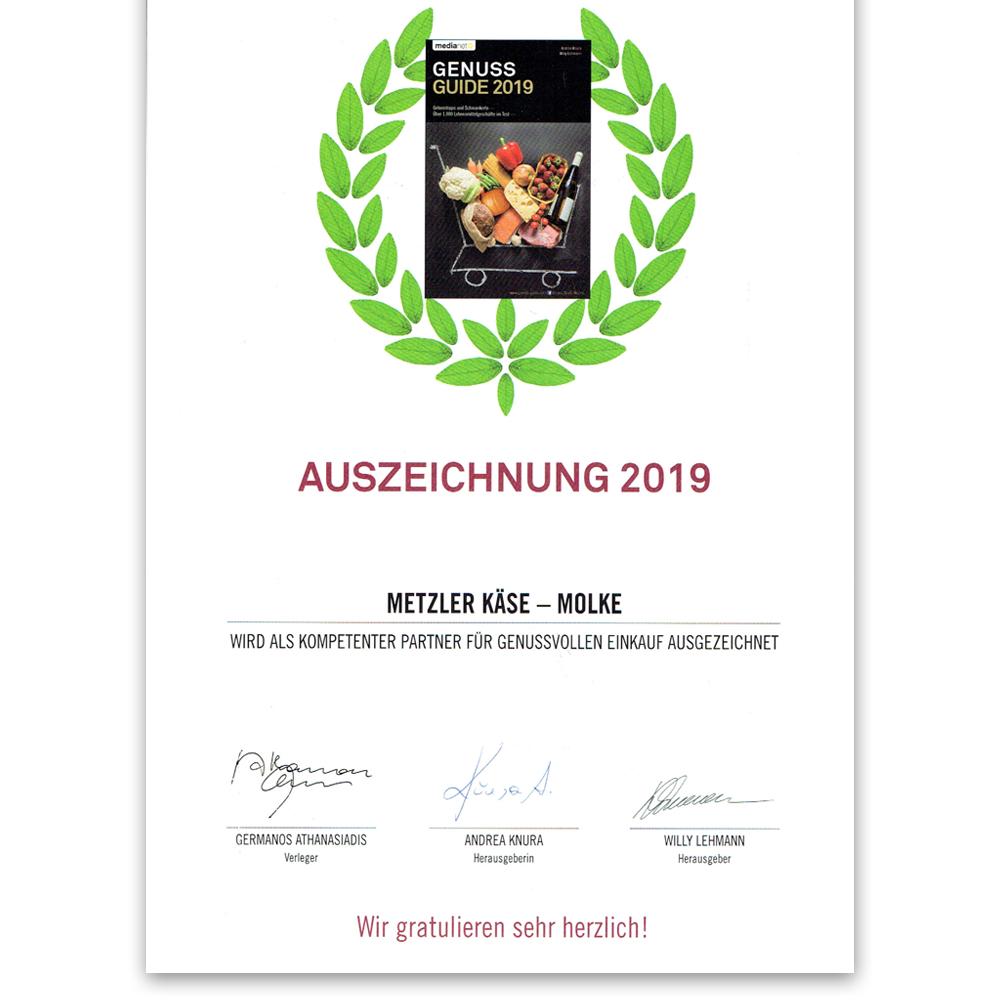 Genuss Guide - Auszeichnung