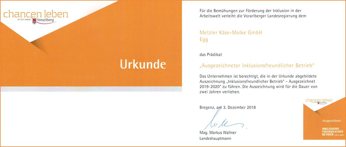 Metzler - Inklusionsfreundlicher Betrieb